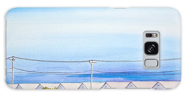 Indian Summer Days Cottages North Truro Massachusetts Watercolor Painting Galaxy Case by Michelle Wiarda