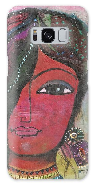 Indian Woman Rajasthani Colorful Galaxy Case