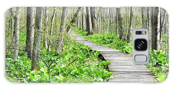 Galaxy Case featuring the photograph Indiana Dunes Great Green Marsh Boardwalk by Kyle Hanson
