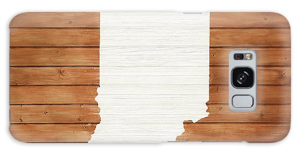 Traveler Galaxy Case - Indiana Rustic Map On Wood by Dan Sproul