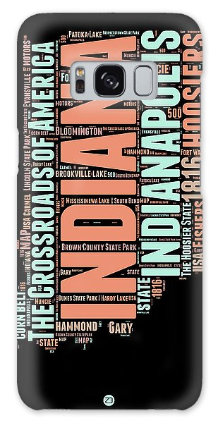 Indianapolis Galaxy Case - Indiana Word Cloud Map 1 by Naxart Studio