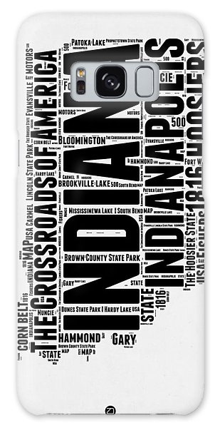 Indianapolis Galaxy Case - Indiana Word Cloud Map 2 by Naxart Studio