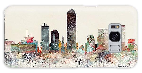 Indianapolis Galaxy Case - Indianapolis City Skyline by Bri Buckley