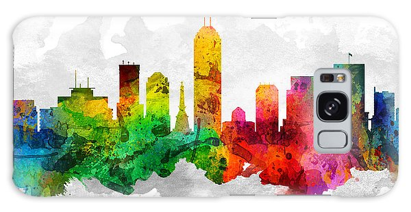 Indianapolis Galaxy Case - Indianapolis Indiana Cityscape 12 by Aged Pixel