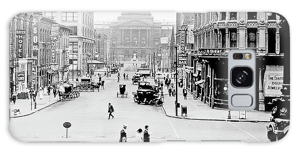 Indianapolis, Indiana, Downtown Area, C. 1915, Vintage Photograp Galaxy Case