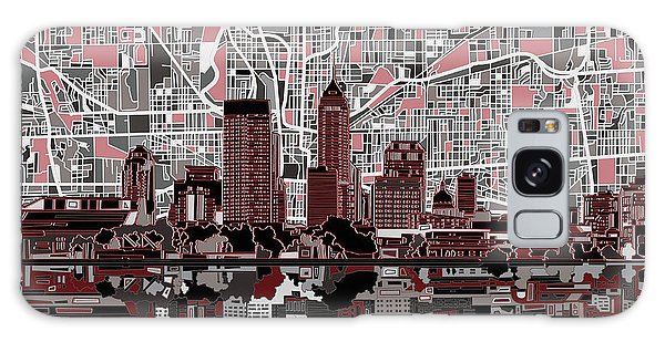 Indianapolis Galaxy Case - Indianapolis Skyline Abstract 1 by Bekim M