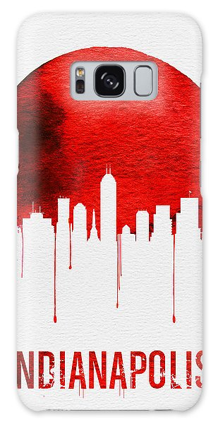 Indianapolis Galaxy Case - Indianapolis Skyline Red by Naxart Studio