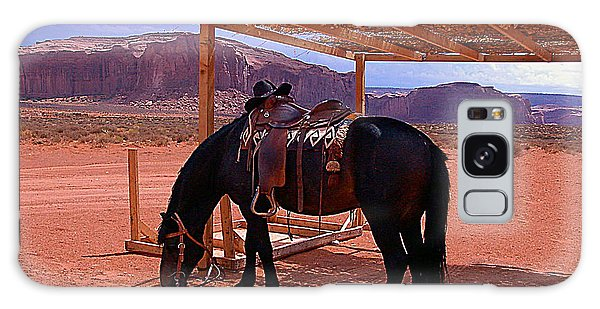 Indian's Pony In Monument Valley Arizona Galaxy Case