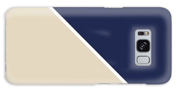 Galaxy Case - Indigo And Sand Geometric by Linda Woods