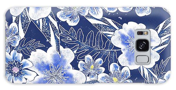 Indigo Batik Tile 1 - Camellia Galaxy Case