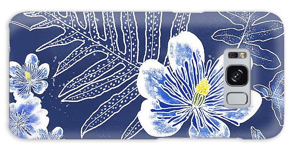 Indigo Batik Tile 3 - Laua'e Galaxy Case