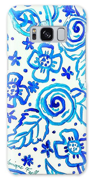 Indigo Blooms Galaxy Case