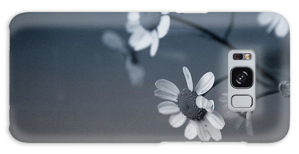 Indigo Daisies 2- Art By Linda Woods Galaxy Case by Linda Woods