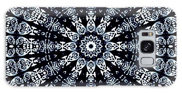Galaxy Case featuring the digital art Indigo Flow Blue Kaleidoscope by Joy McKenzie