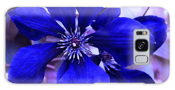 Indigo Flower Galaxy Case by Milena Ilieva