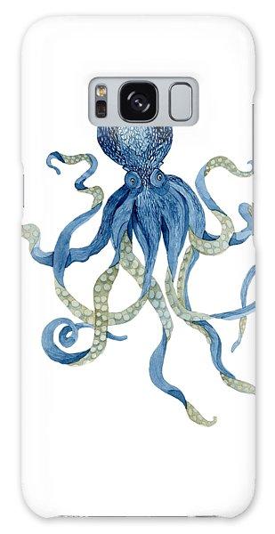 Indigo Ocean Blue Octopus  Galaxy Case