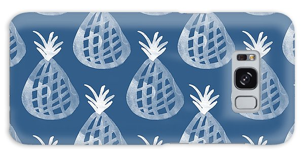 Interior Galaxy Case - Indigo Pineapple Party by Linda Woods