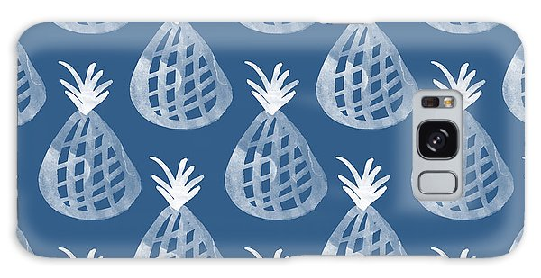 Woods Galaxy Case - Indigo Pineapple Party by Linda Woods
