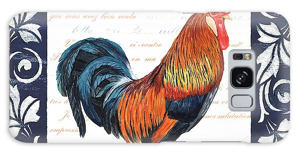 Chicken Galaxy Case - Indigo Rooster 1 by Debbie DeWitt