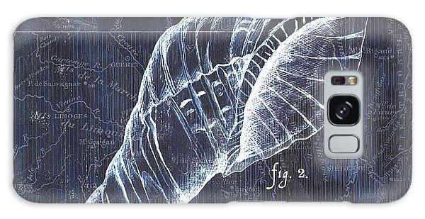 Shipping Galaxy Case - Indigo Verde Mar 3 by Debbie DeWitt