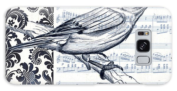 Bird Galaxy Case - Indigo Vintage Songbird 1 by Debbie DeWitt