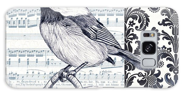 Bird Galaxy Case - Indigo Vintage Songbird 2 by Debbie DeWitt