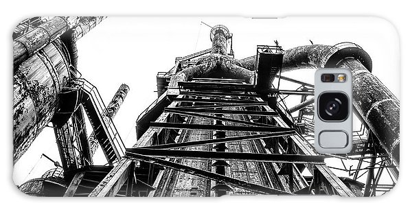 Industrial Age - Bethlehem Steel In Black And White Galaxy Case by Bill Cannon