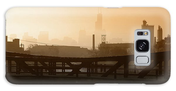Wasted Galaxy Case - Industrial Foggy Chicago Skyline by Bruno Passigatti
