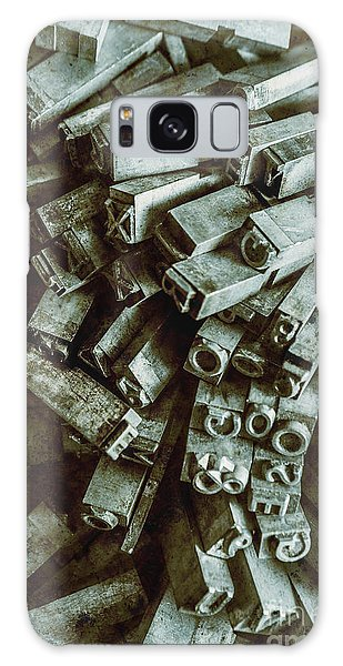Technology Galaxy Case - Industrial Letterpress Typeset  by Jorgo Photography - Wall Art Gallery