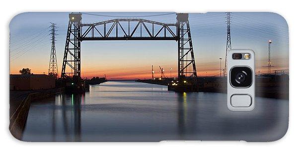 Industrial River Scene At Dawn Galaxy Case