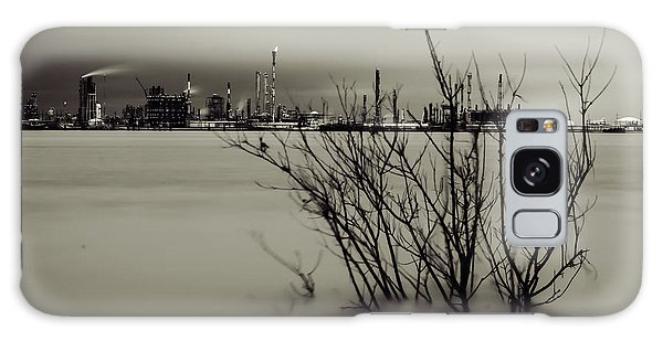 Industry On The Mississippi River, In Monochrome Galaxy Case