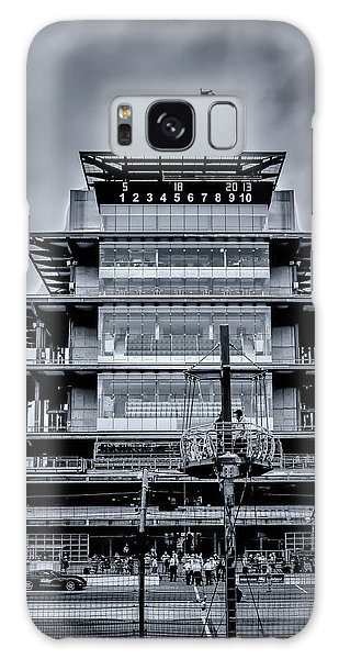 Indy 500 Pagoda - Black And White Galaxy Case