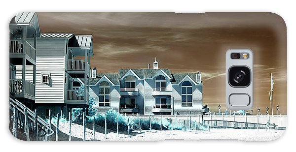 Infrared Beach House Angles Galaxy Case by John Rizzuto