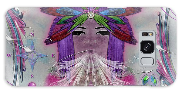 Inhaling Exhaling Peace Galaxy Case by Barbara Tristan