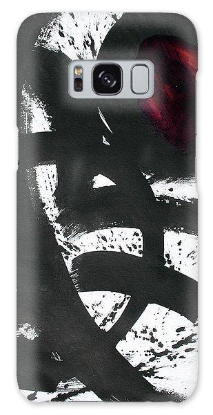 Ink On Paper Rose #2 Vertical Ink Landscape Original Fine Art Ink On Paper Galaxy Case