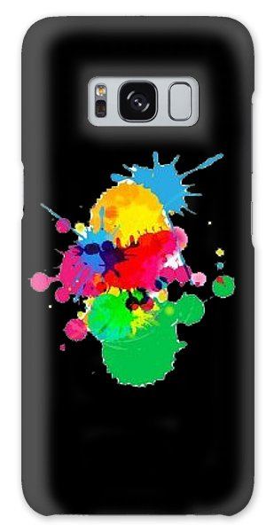 Inkblots T-shirt Galaxy Case by Herb Strobino