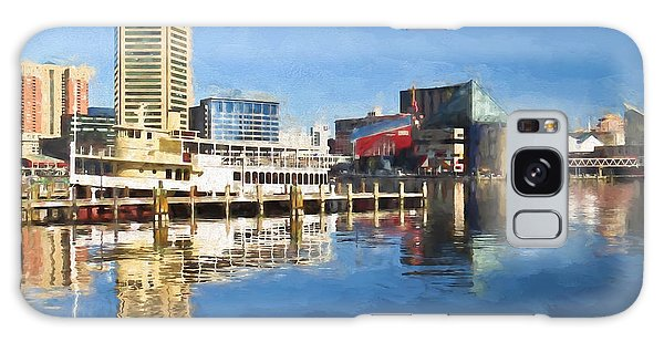 Inner Harbor Reflections  Galaxy Case