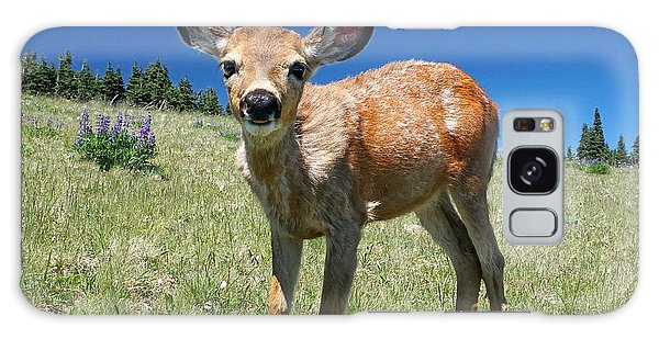 Inquisitive Blacktail Fawn Galaxy Case