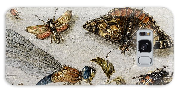 Jan Galaxy Case - Insects, Currants And Butterfly by Jan van Kessel