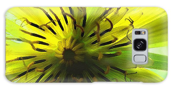 Galaxy Case featuring the digital art Inside A Yellow Goatsbeard  by Shelli Fitzpatrick