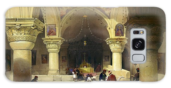 Inside The Church Of The Holy Sepulchre In Jerusalem Galaxy Case