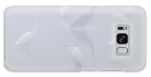 Egret Galaxy Case - Inside The Fog by Everet Regal