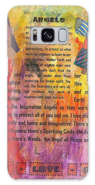 Inspiration Angels II Galaxy Case by Angela L Walker