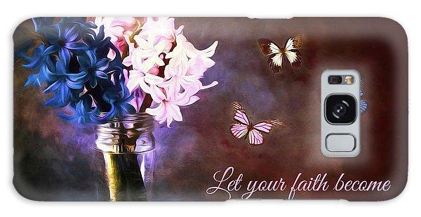 Inspirational Flower Art Galaxy Case by Tina LeCour