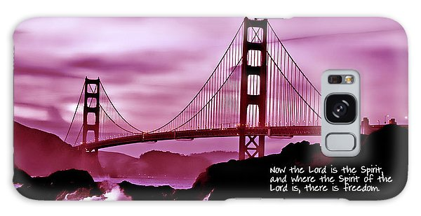 Inspirational - Nightfall At The Golden Gate Galaxy Case