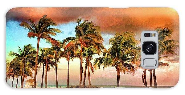 Crandon Park Beach Galaxy Case