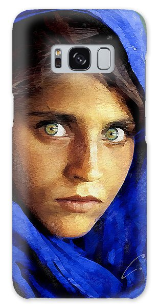 Inspired By Steve Mccurry's Afghan Girl Galaxy Case