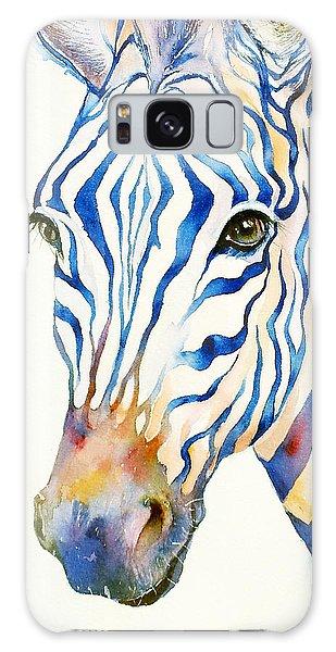 Intense Blue Zebra Galaxy Case