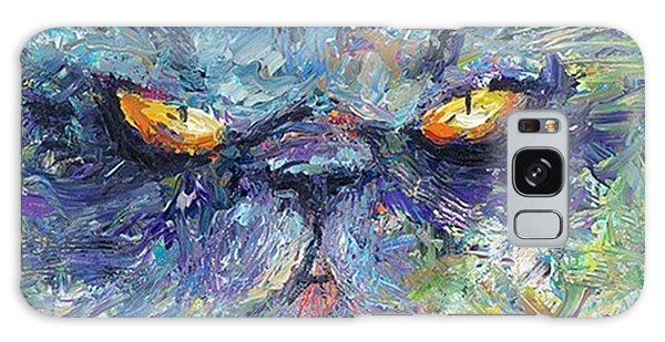 Galaxy Case - Intense Palette Knife  Persian Cat by Svetlana Novikova