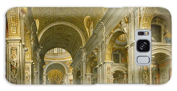 Interior Galaxy Case - Interior Of St. Peter's - Rome by Giovanni Paolo Panini